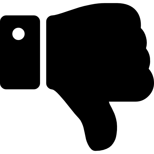 Thumbs Down Silhouette Icons Free Download