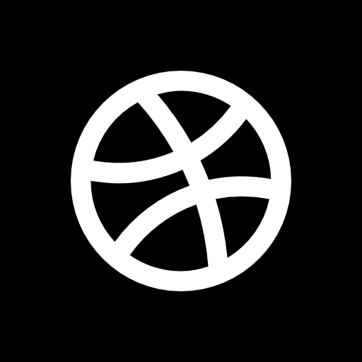 Dribbble Icon Solid Social Media Logos Freepik