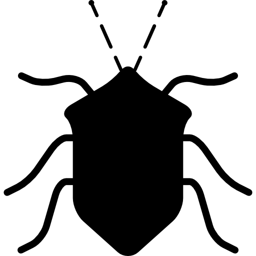 Bug Black Insect Shape From Top View Icons Free Download