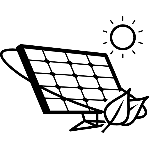 Eco Solar Panel In Sunlight Icons Free Download