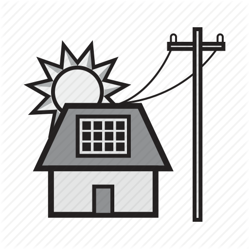 Solar Powered Home Icon Free Icons