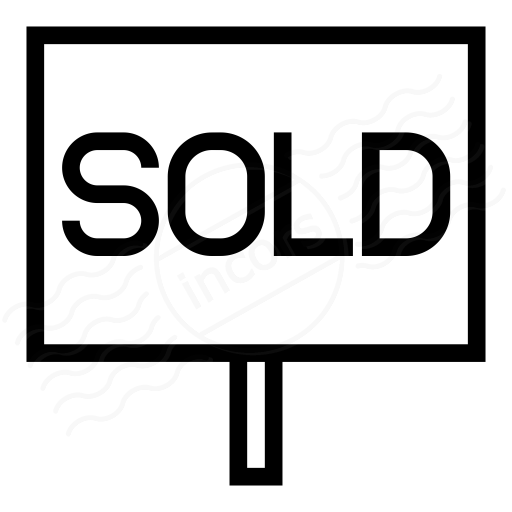 Iconexperience I Collection Signboard Sold Icon