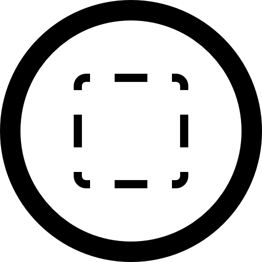 Select Square Of Broken Line In Circular Button Icons Free Download