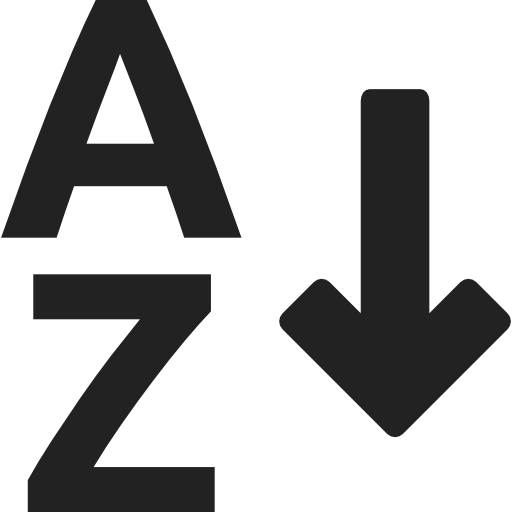 Sort A To Z
