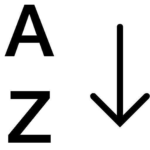 Data Alphabetical Sorting Az Icon Ios Iconset