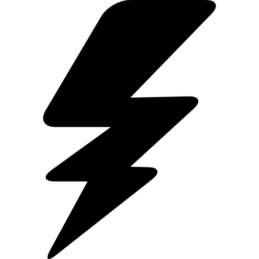 Thunderbolt Silhouette Icons Free Download