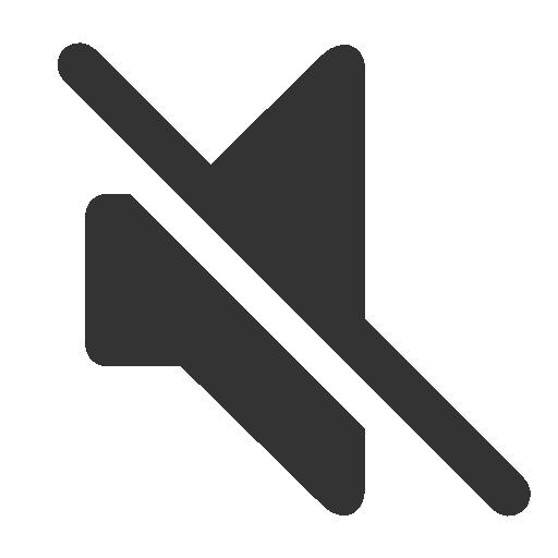 Mute Off, Sound Off Icon