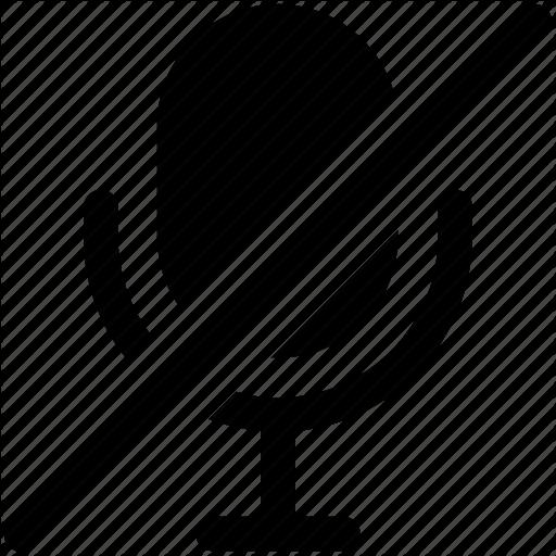 Audio Mute, Mute Mic, Mute Volume, No Sound, Sound Off Icon Icon