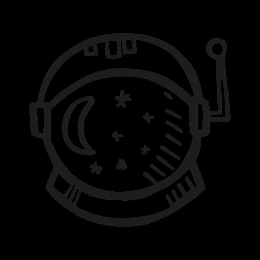 Astronaut, Helmet Icon Free Of Space