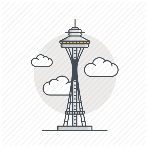 Landmark, Monument, Needle, Space, Space Needle, Tower Icon