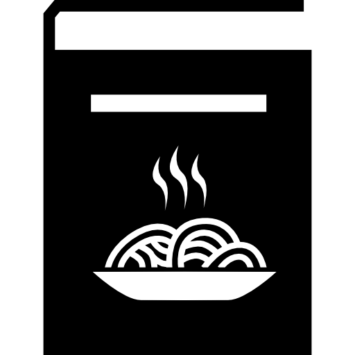 Recipes Book With Spaghetti Plate On The Cover Icons Free Download