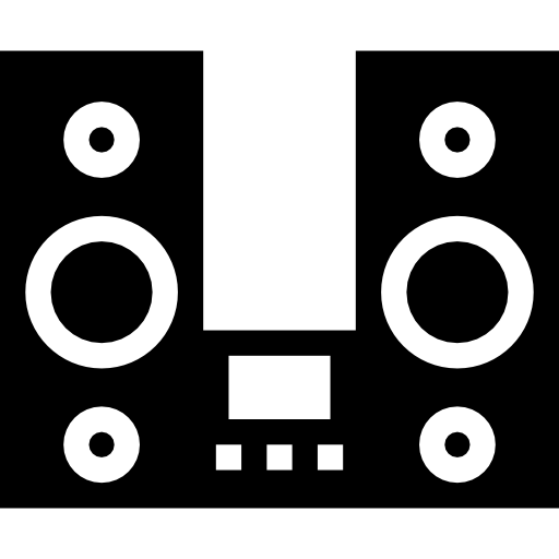 Music Player With Two Big Speakers