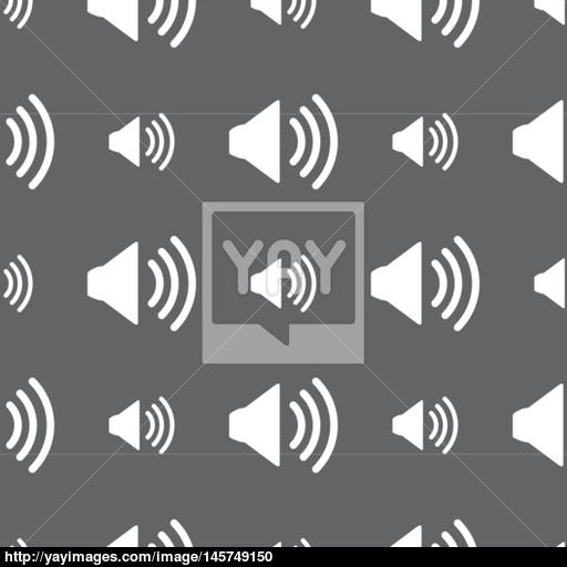 Speaker Volume Sign Icon Sound Symbol Seamless Pattern On A Gray