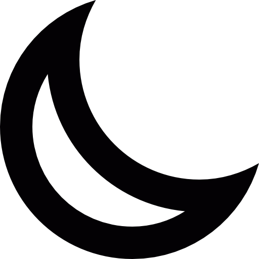 Waning, Crescent, Moon, Appbar Icon