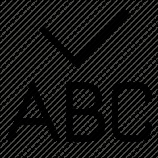 Abc, Accept, Check, Checking, Grammar, Ok, Spellcheck Icon