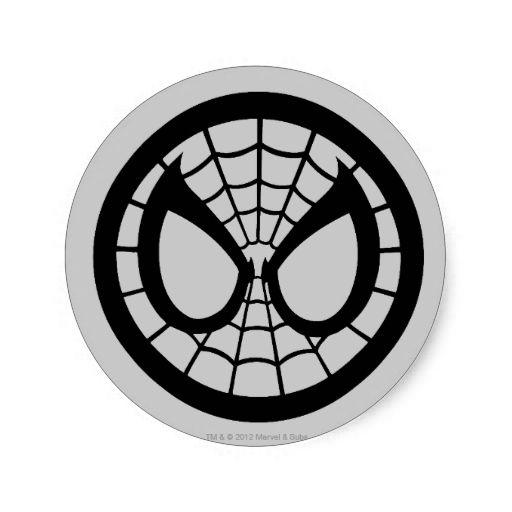 Spider Man Icon Round Sticker Anything I Love