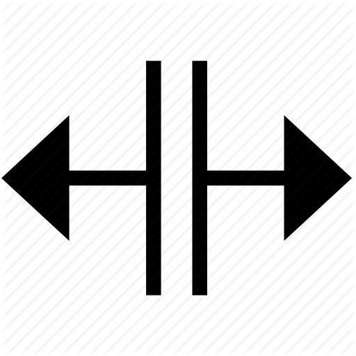 Cursor, Horizontal, Mouse, Split Icon