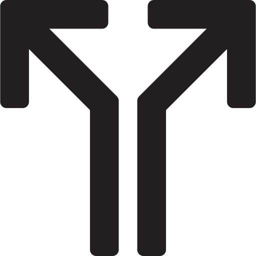 Split Arrows Png Icon