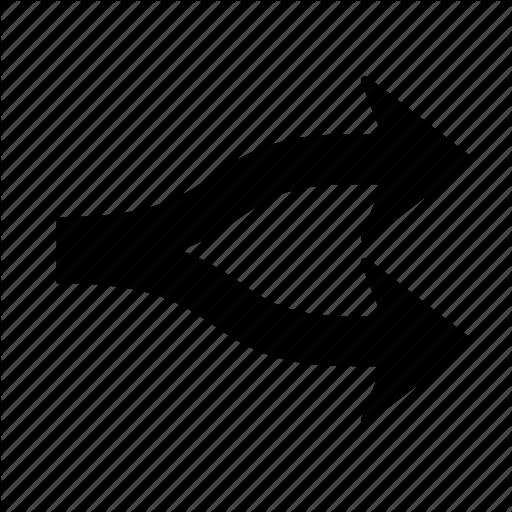 Arrow, Right, Split Icon