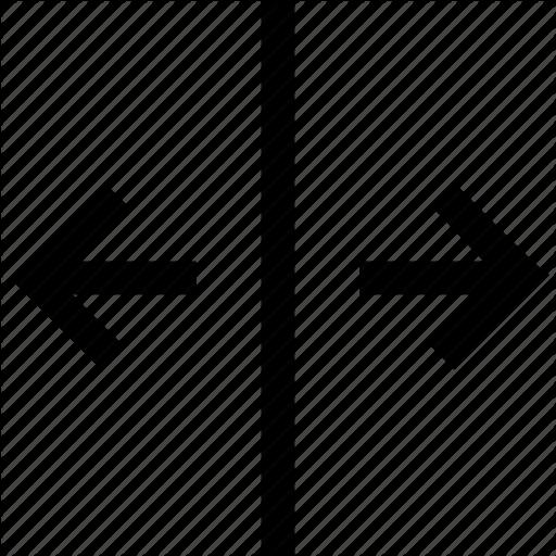 Arrows, Divide, Split, Window, Windows Icon