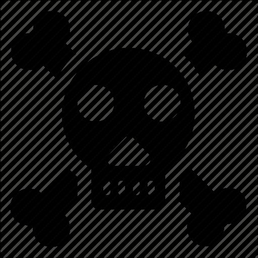 Cranium, Danger, Human Bones, Human Skeleton, Human Skull Icon