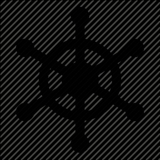 Boat Gear, Ship Helm, Ship Steering, Ship Wheel, Steering Wheel Icon