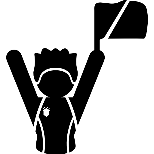 Football Fan Raising Flag Icons Free Download