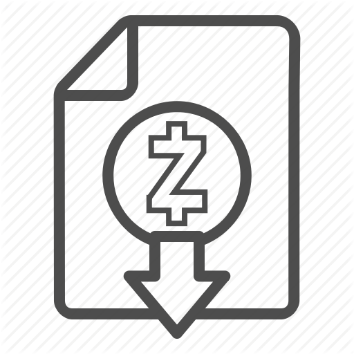 Cash, Document, Down, Download, Out, Zcash Icon