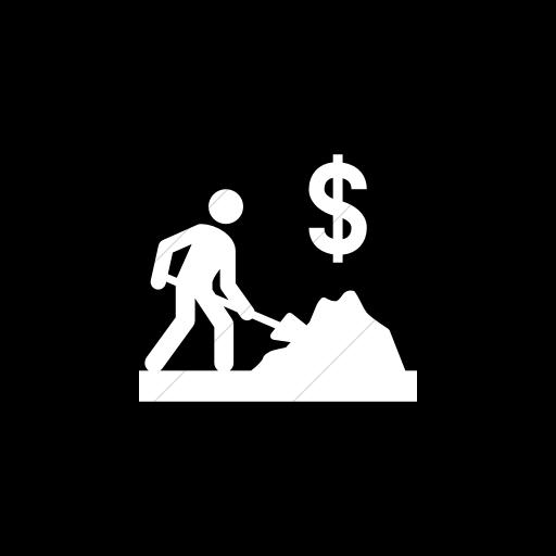 Flat Square White On Black Iconathon Cash For Work Icon