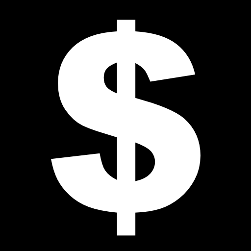 Money Sign In A Square Icons Free Download