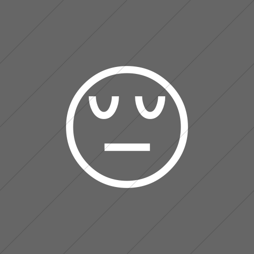 Flat Square White On Gray Classic Emoticons Pensive