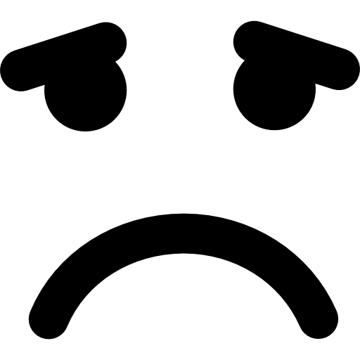 Sad Emoticon Square Face Icons Free Download