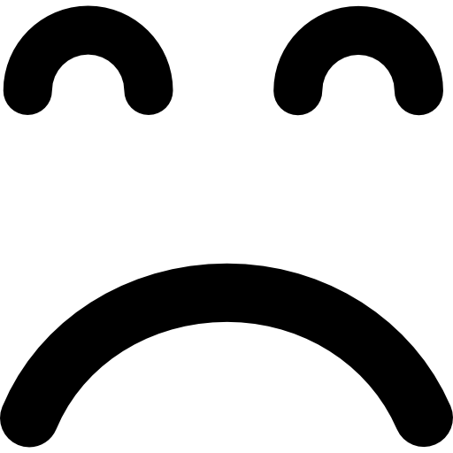 Sad Emoticon Square Face With Closed Eyes Icons Free Download