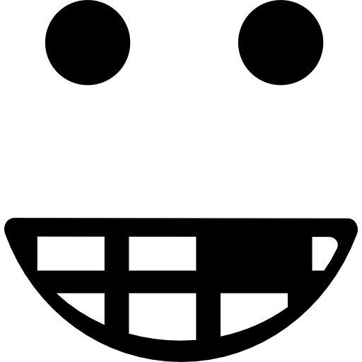 Smiley Square Face With Broken Teeth Icons Free Download