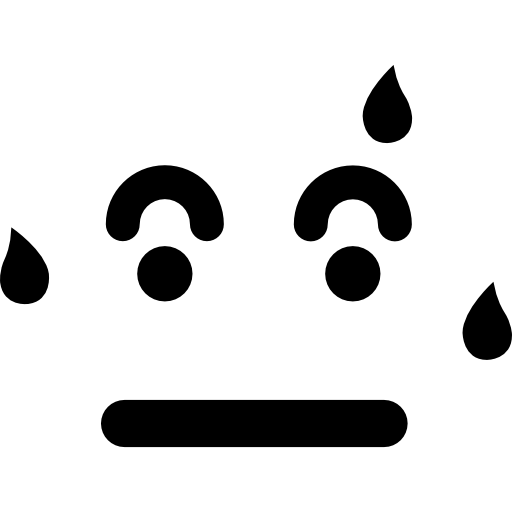 Sweating Emoticon Square Face Icons Free Download