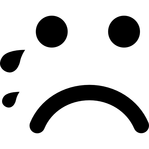 Crying Emoticon Rounded Square Face Icons Free Download