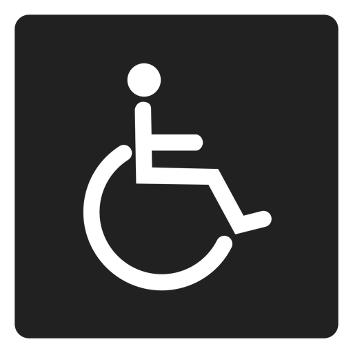 Person With Disability Square Icon