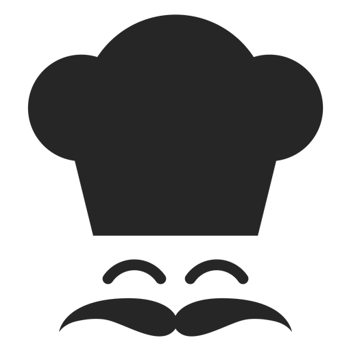Smiling Chef Face Flat Icon