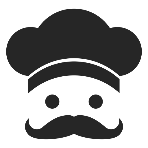 Chef Face Flat Icon