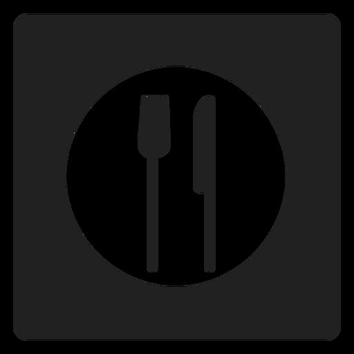 Eating Utensils Square Icon