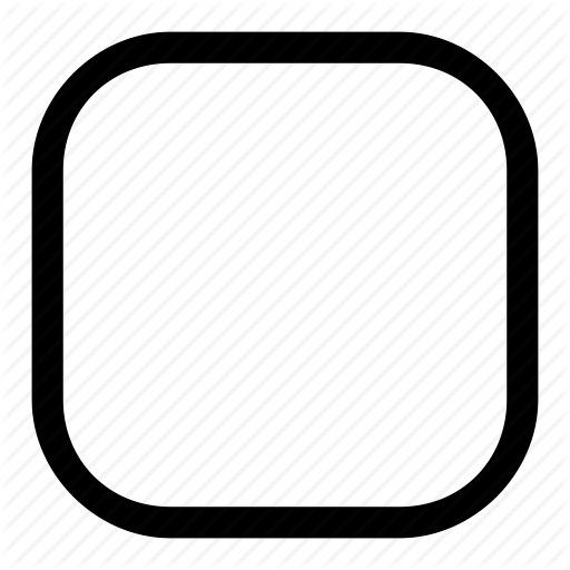 Rounded, Square Icon