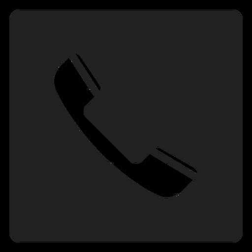 Simple Telephone Square Icon