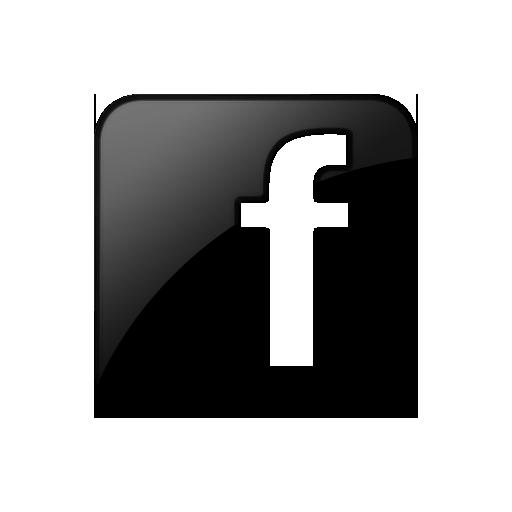 Black Facebook Square Icon