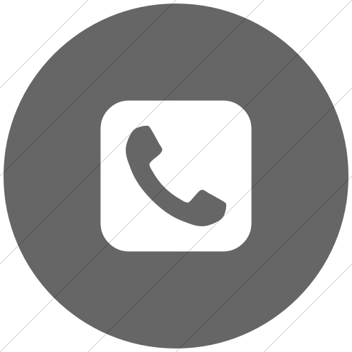 Flat Circle White On Gray Bootstrap Font Awesome Phone