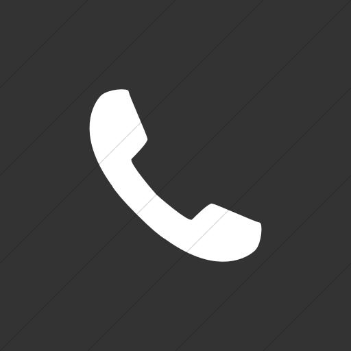 Flat Square White On Dark Gray Broccolidry Phone Icon