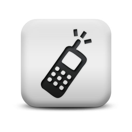 Matte White Square Icon Business Phone Cell