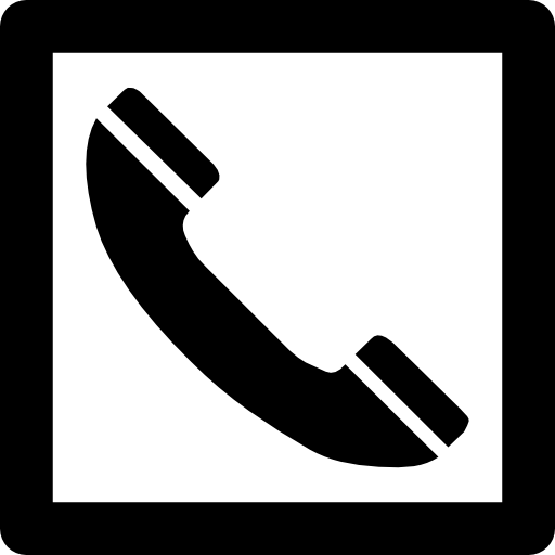 Phone Auricular Symbol In A Square Icons Free Download