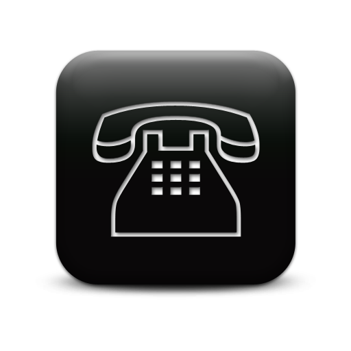 Simple Black Square Icon Business Phone Clear