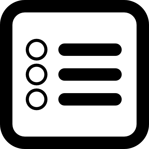 List Square Button Symbol For Interface Icons Free Download