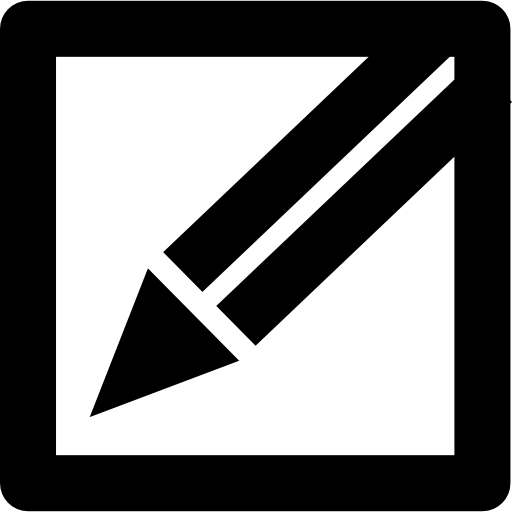 Pencil In A Square Edit Or Write Interface Button Symbol Icons